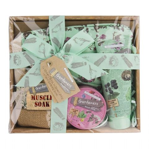 Bountiful Hamper Hand Salve Cream Muscle Soak Gloves - Gardeners Collection Heathcote & Ivory